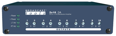 2×10 DA – Stereo Distribution Amplifier