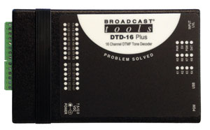 DTD-16 Plus – 16 Channel DTMF Tone Decoder