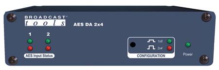 AES DA 2×4 – AES/EBU Distribution Amplifier