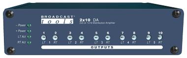 2×10 DA – Stereo Distribution Amplifier